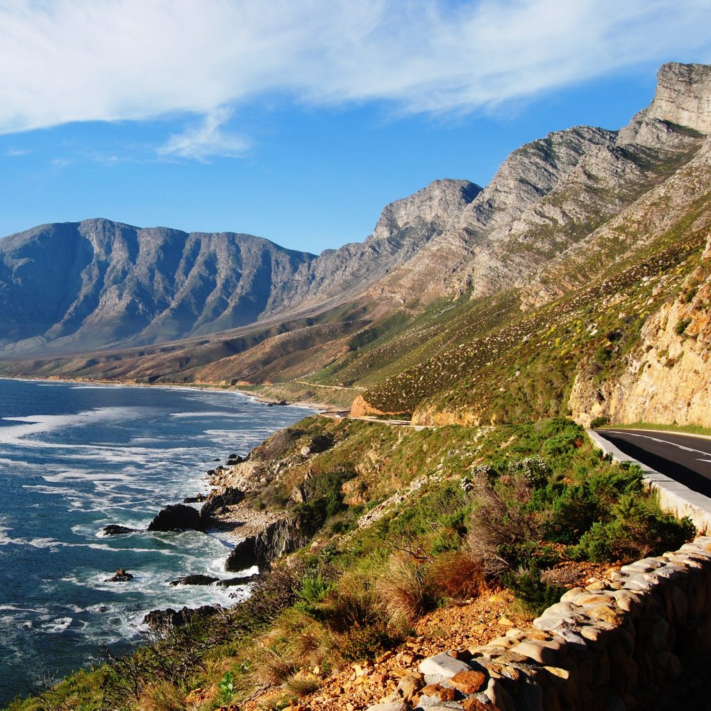 Reach Dreams Holiday Accommodation by driving via Clarence Marine Drive with spectacular views