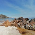 Pringle Bay beach and river mouth is only a few minutes' walk to Dreams holiday home